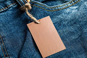 Cloth label blank brown tag