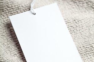 Cloth label blank white tag