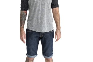 Casual man standing (PNG)