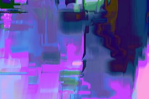 Glitch Art Abstract