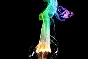 Colored bulb