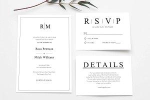 Clean Wedding Invitation Set