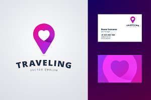 Traveling Logo and Business Card