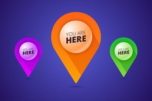 You are here — map pins