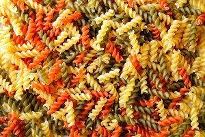 Pasta colorful background