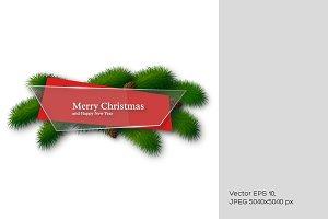 Christmas glass banner.