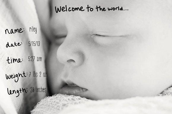 Baby Themed Photo Overlays