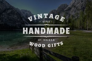Vintage Logo Template Photoshop
