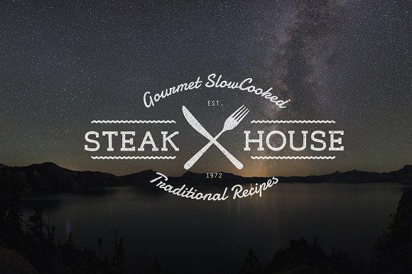 vintage restaurant logo template psd logo templates creative market