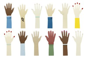 Diverse hands icon (PNG)