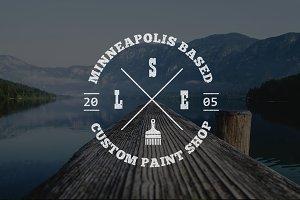 Paint Shop Logo Template PSD