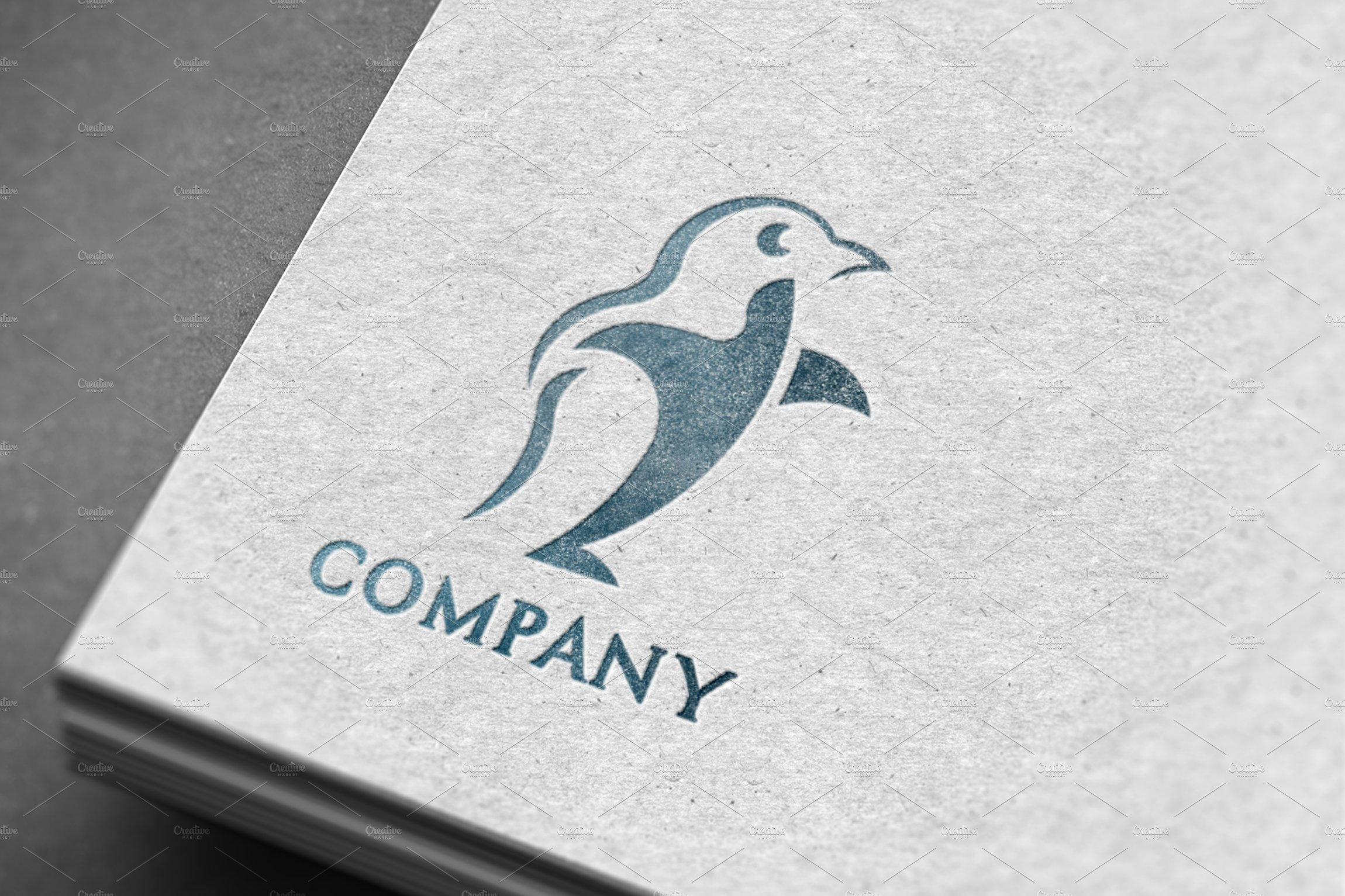 Modern Penguin Logo Mock Up Logo Templates Creative Market