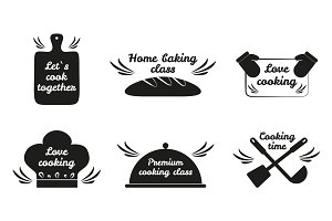 Lets Cook Together Icon Set Vector Illustration
