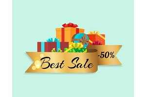 Best Sale -50% Represented on Vector Illustration
