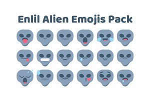Enlil Alien Emojis Pack