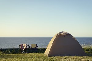 Camping and sea