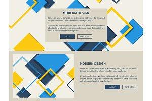 Modern Design Web Page Light Vector Illustration