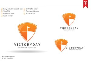 Victory Shield Logo Template