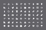 250 Hotel and Restaurant Vector Icon