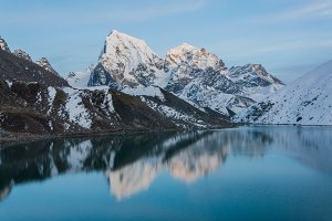 Mountain over the lake