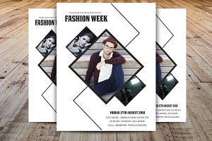 Minimal Fashion Week Flyer Template
