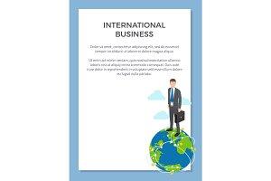 International Business Poster Vector Illustration