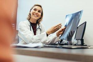 Female physician explaining
