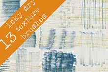 13 Inky Dry-texture brushes