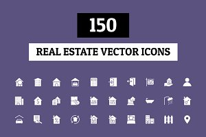 150 Real Estate Vector Icons