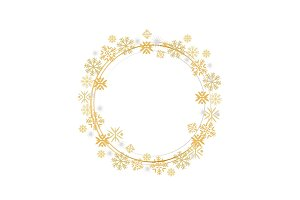 Winter Decorative Frame Frothen Element Vector