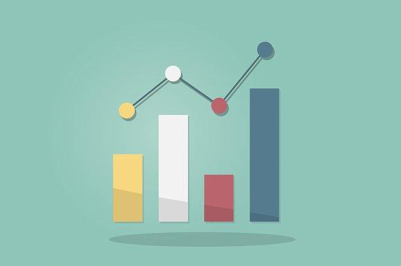 Statistics Icon Vector
