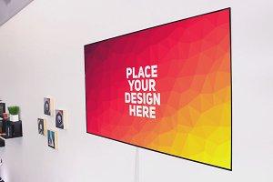TV Display Mock-up #58
