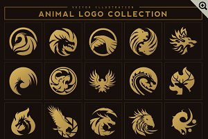 35 Animal Logo Set