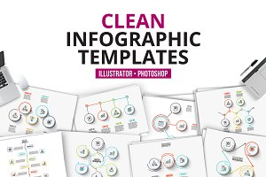 Сlean infographic templates