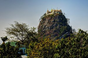 Popa mountain and monastery