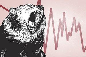 Bear Market Icon Symbol Vector