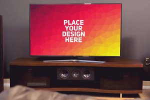 TV Display Mock-up #63