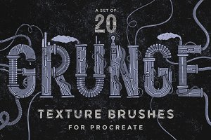 Procreate grunge texture brushes