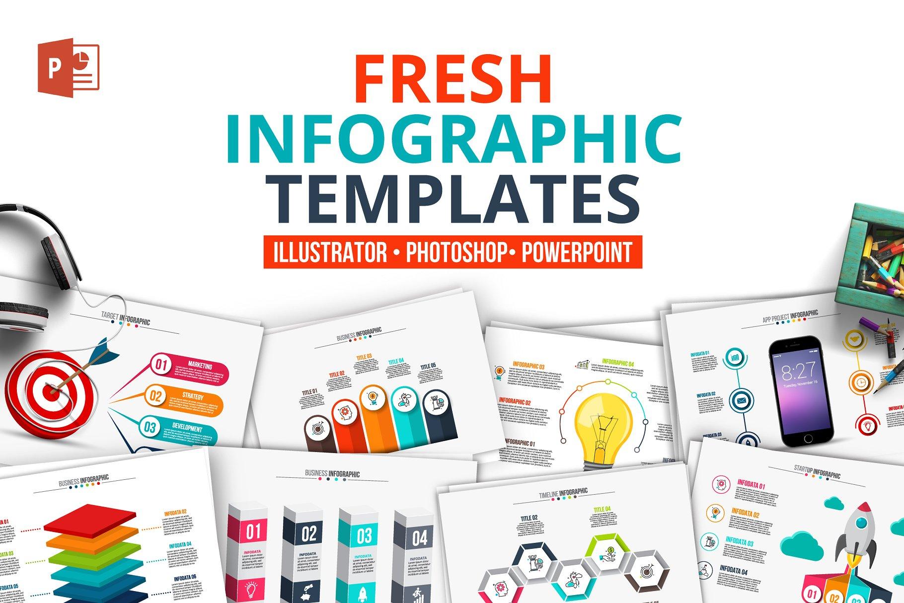 fresh powerpoint infographics presentation templates creative