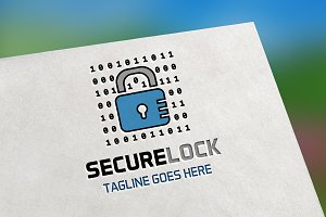 Secure Lock Logo Template