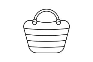 Beach bag linear icon
