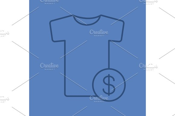 Buy clothes linear icon