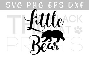 Little bear SVG DXF PNG EPS