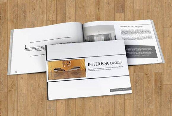Interior Brochure 12 Pages V83 Brochure Templates Creative Market
