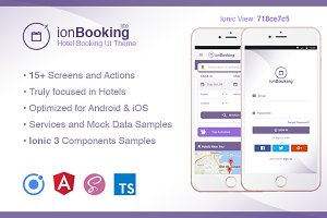 Ionic 3 Hotel Booking Theme Lite