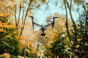 Autumn DJI drone