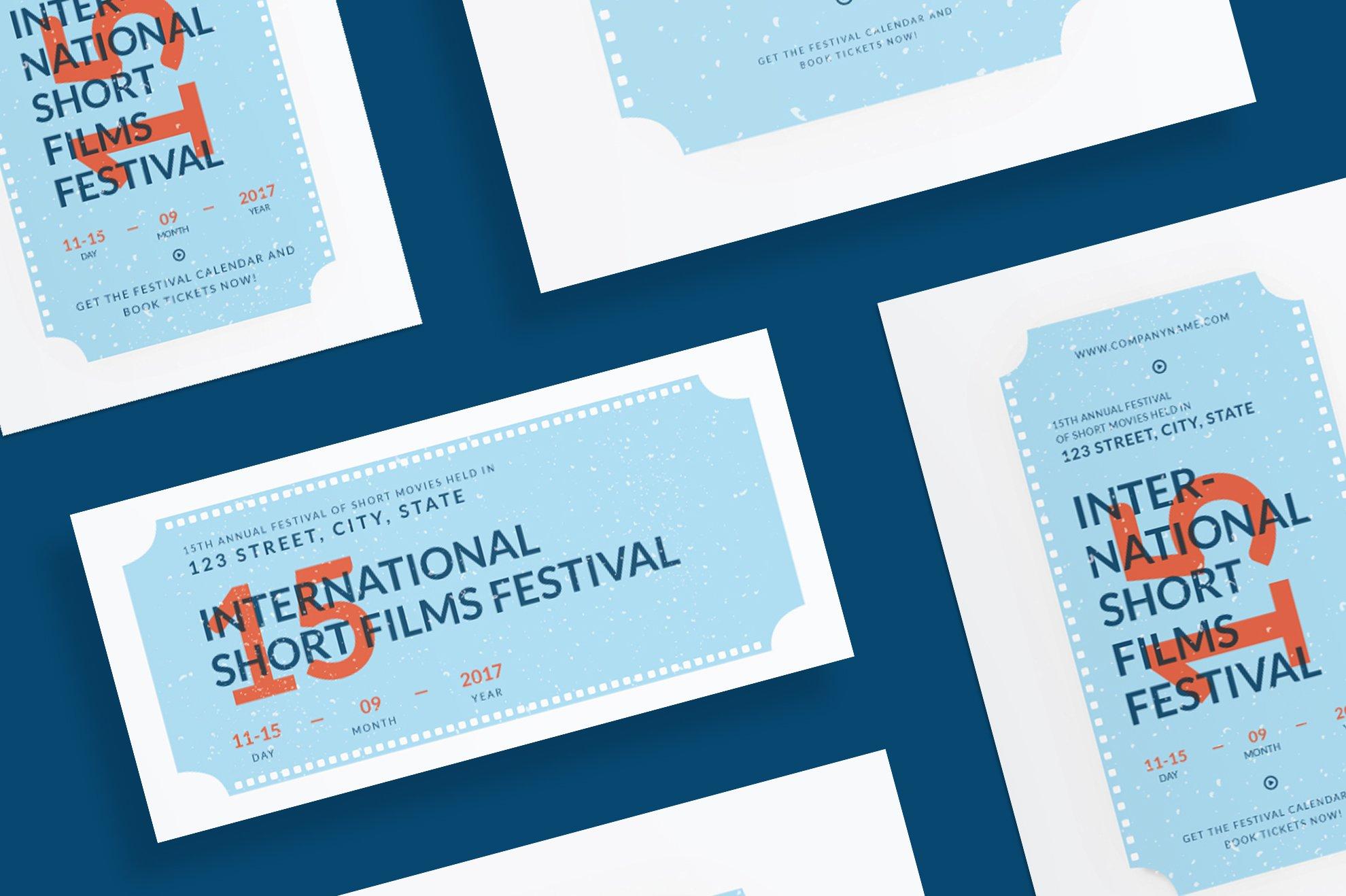 film festival brochure template - flyers film festival flyer templates creative market