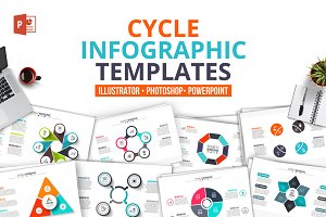 Cycle infographics templates