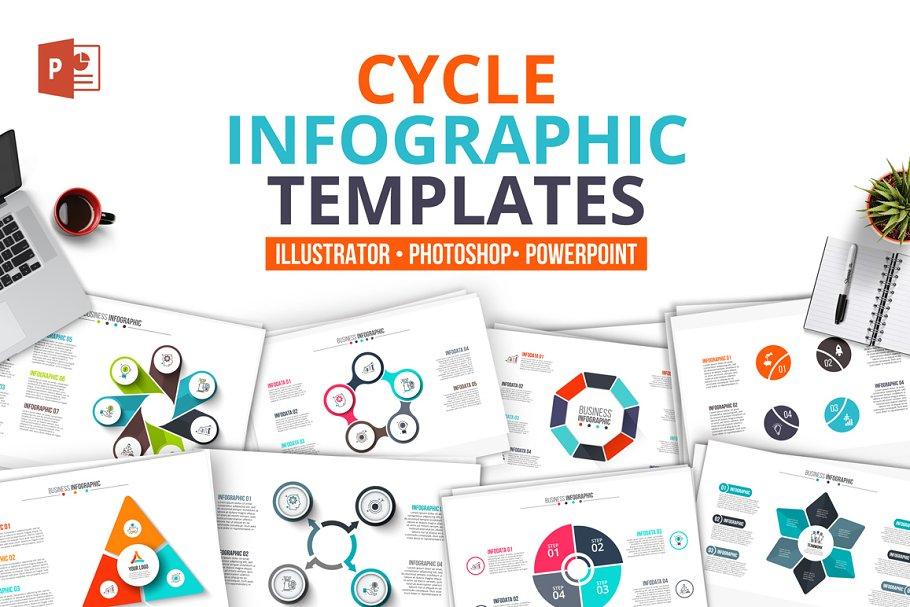 Cycle infographics templates - Presentation Templates   Creative ...