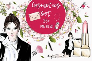 Luxurious cosmetics clipart